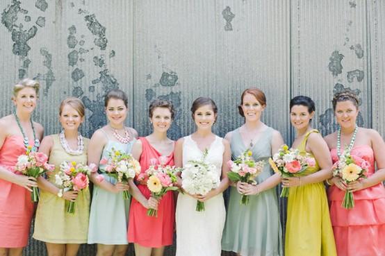 unique bridesmaid dresses, colorful bridesmaid dresses ?