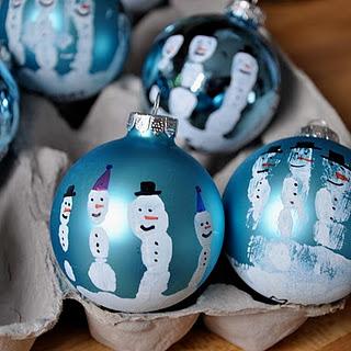 Handprint Christmas ornaments