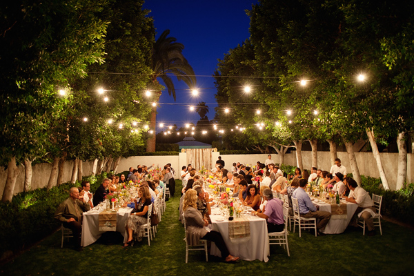 Great ambiance for an outdoor reception #weddings