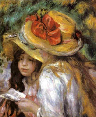 Two Young Girls Reading – Pierre-Auguste Renoir