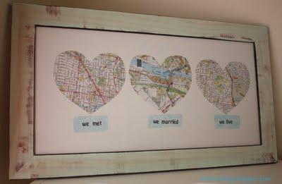 Map- where you met, married, honeymooned etc. :D