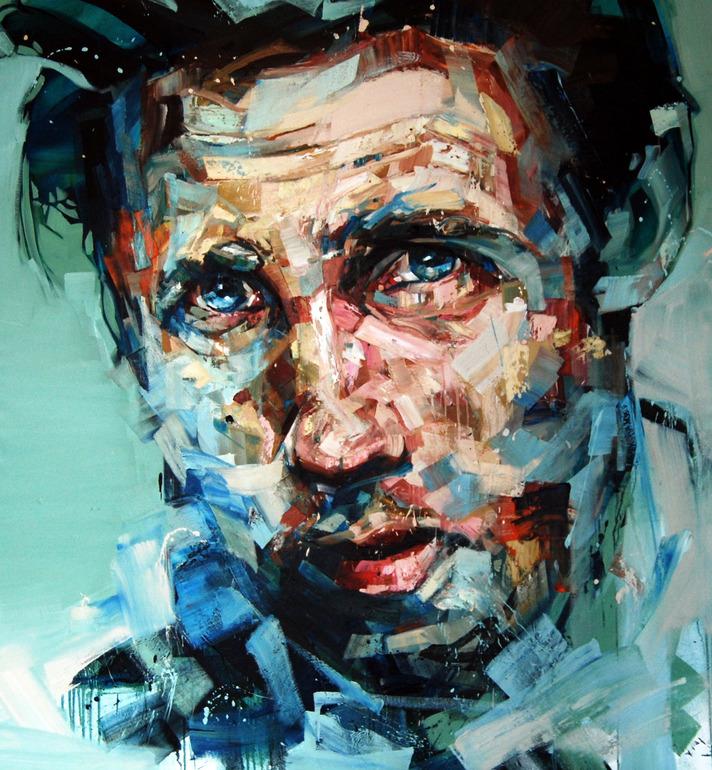 """Saatchi Online Artist: Andrew Salgado; Oil, 2012, Painting """"The Conversatio"""