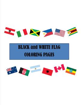 FREEBIE! World Flag Coloring Sheets