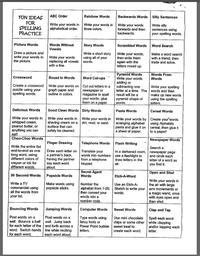 50 ways to practice spelling words