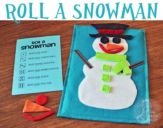 Roll A Snowman Game~ Check out this fun holiday Game to keep kids busy on cold w