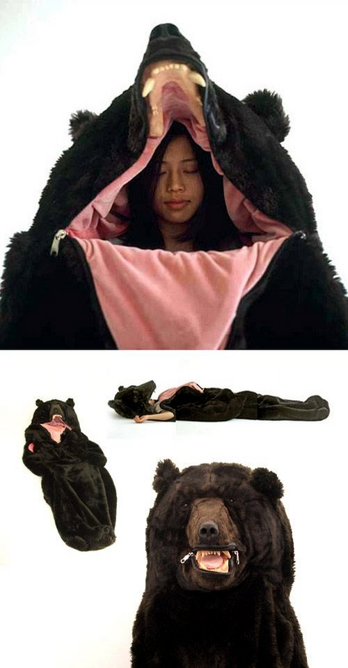 Coolest sleeping bag EVAR.