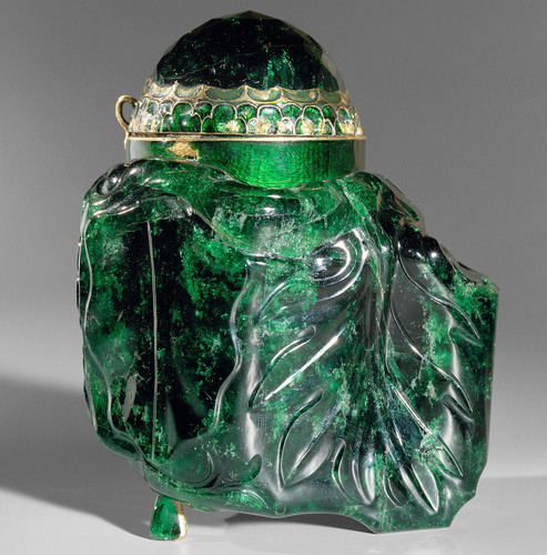 EMERALD VESSEL  This is the largest cut emerald in the world. It comes from Colu