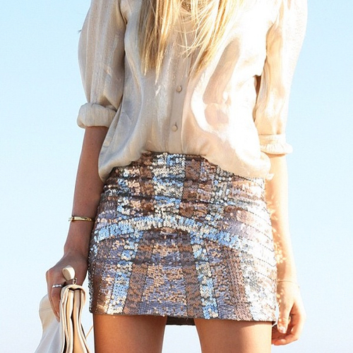 Cream and sparkles. Love this