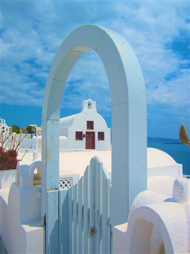 Beautiful Santorini, Greece. Photo submitted by Noelle Matta.