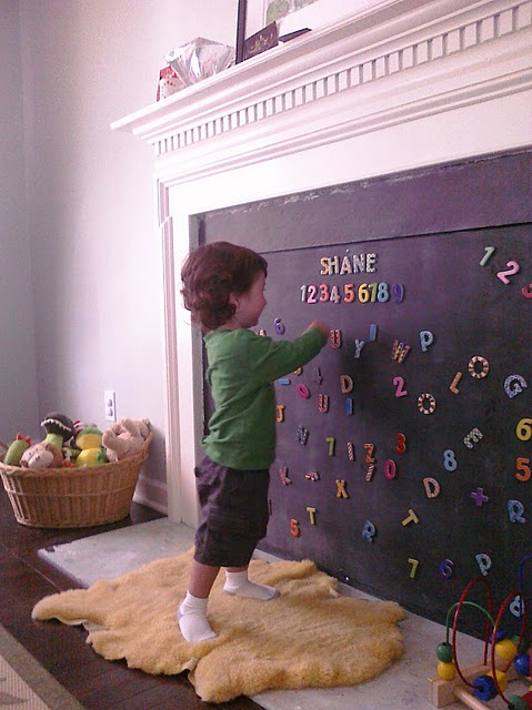 Awesome idea for baby proofing a fireplace!