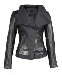 Mackage – Roe Black Distressed Leather Jacket