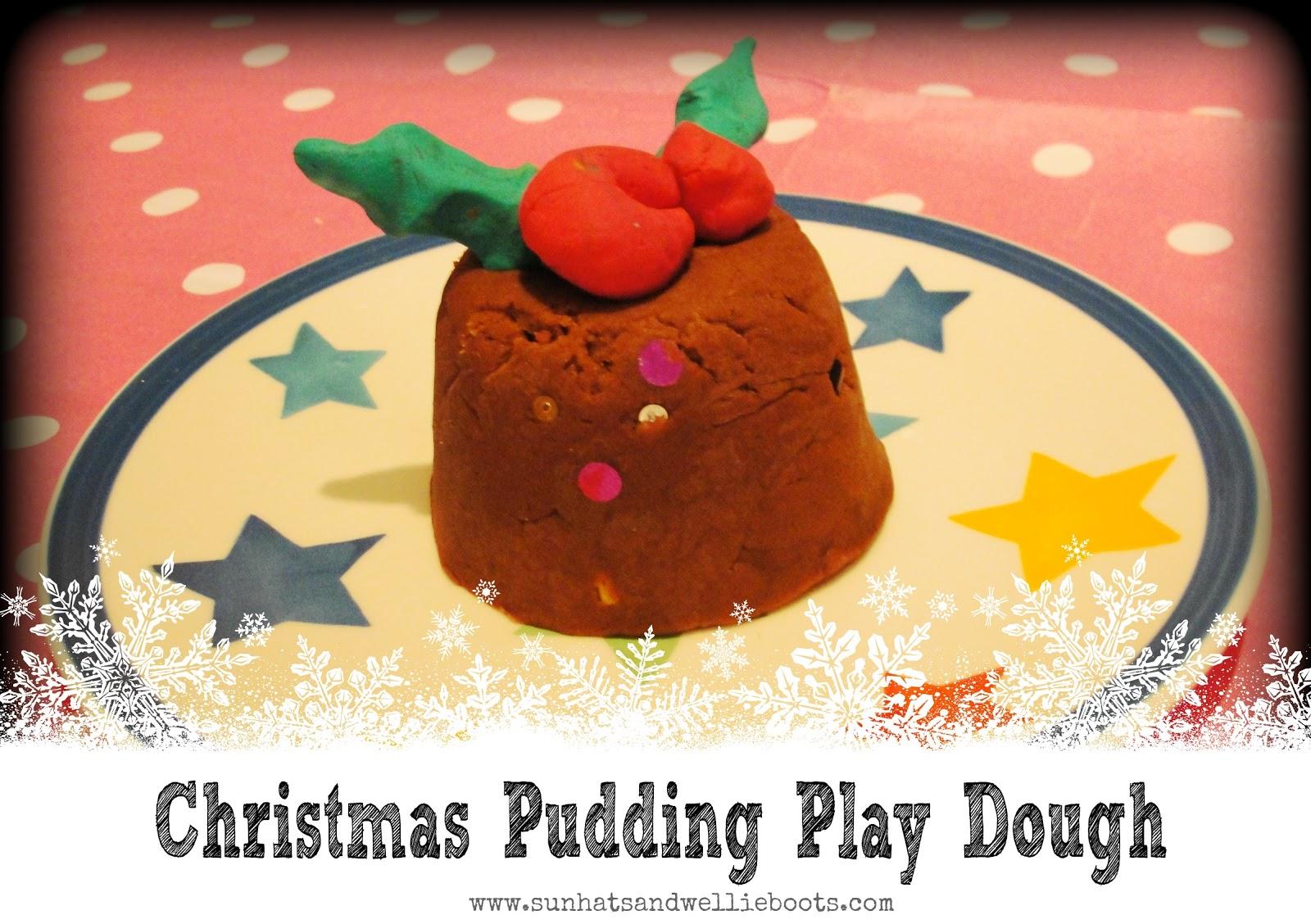 Scented Sensory Play – Christmas Pudding Play Dough 2012