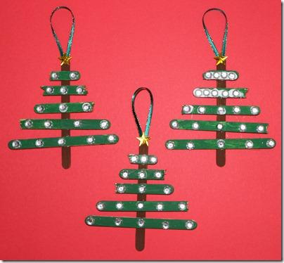 stick christmas ornaments