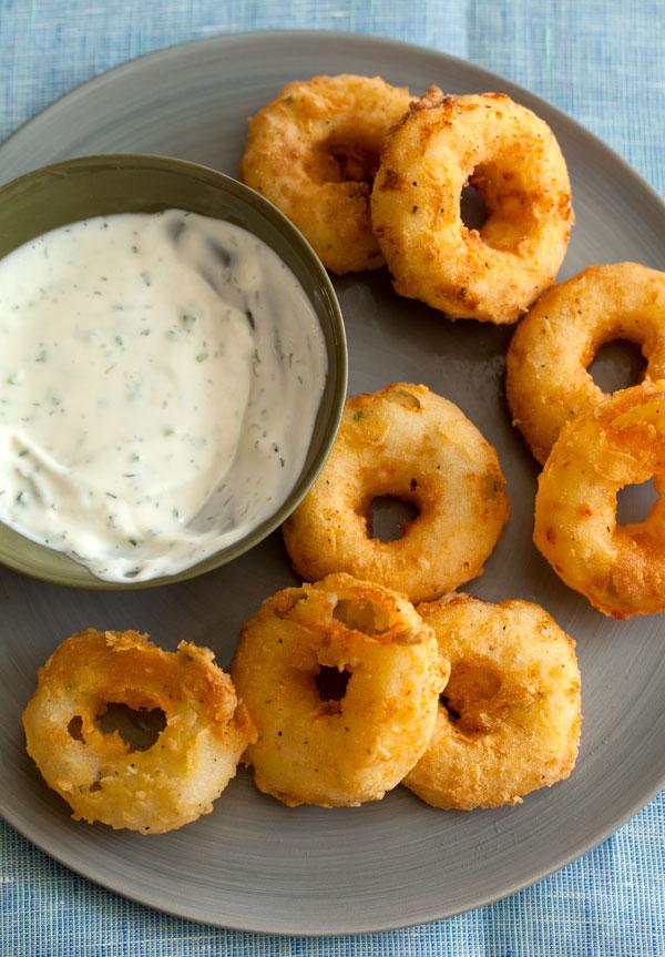 Mashed Potato Rings w/ Ranch Dip