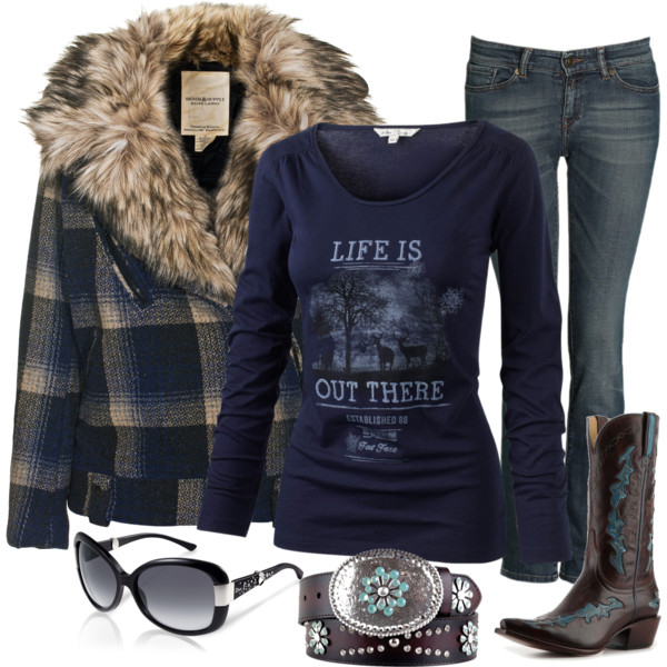 Saturday out Christmas shopping, created by country-girls-world on Polyvore