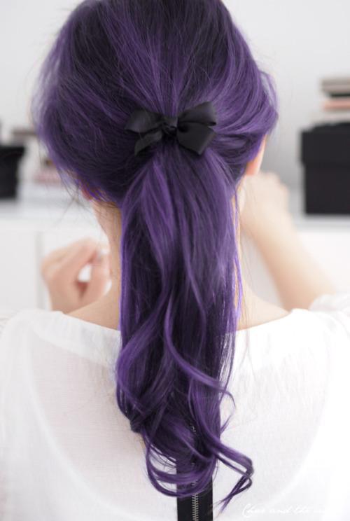 dark violet – the purple ponytail