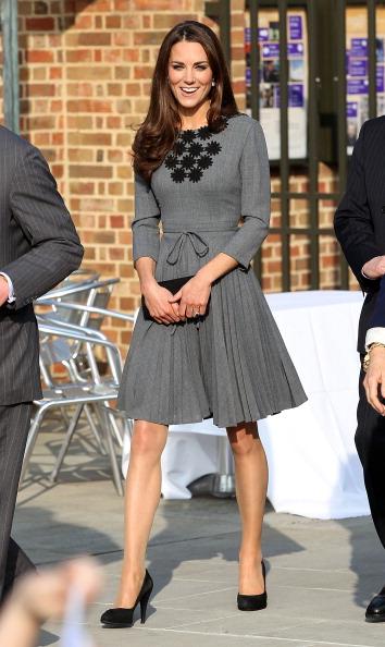 Kate Middleton: Dress by Orla Kiely.