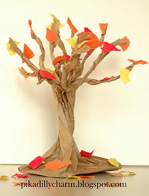 Help your Children decorate for fall with this easy craft.