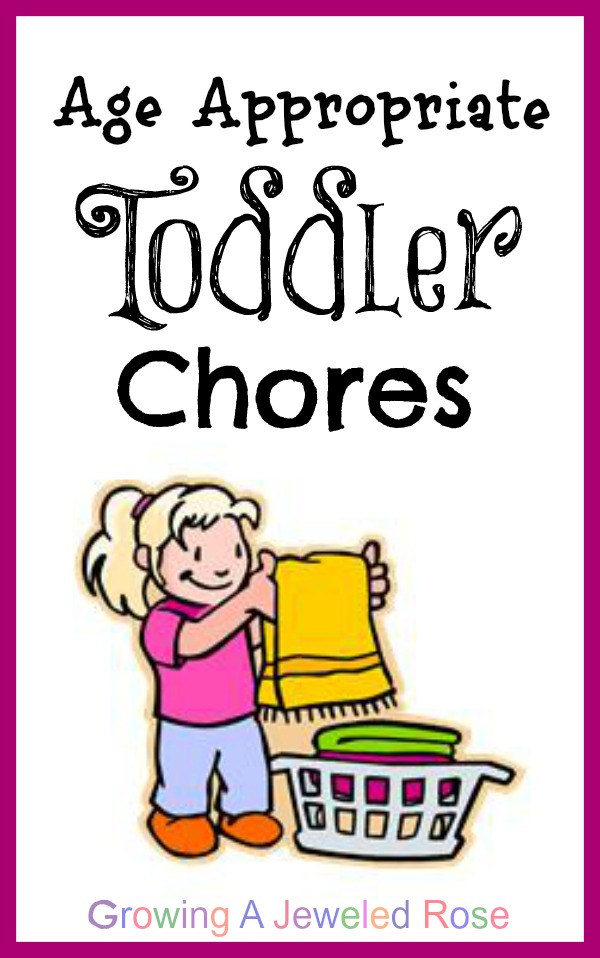 A list of age appropriate chores for toddlers.  Includes chore games and other w
