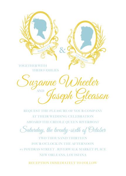 #Invitation #Wedding #Cameo #Silhouette #Invitation Invitation