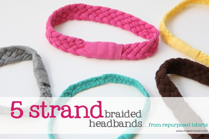 Old Tshirts: Headband or bracelet craft.  Cut strips double the finished length
