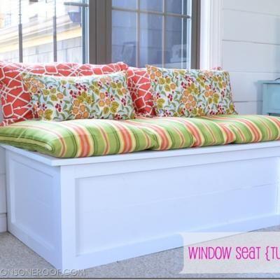 DIY window seat bench.