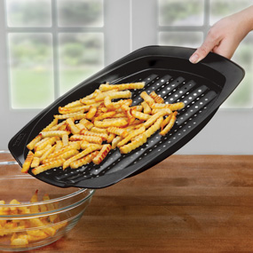 pan for crispy fries, chicken nuggets etc.