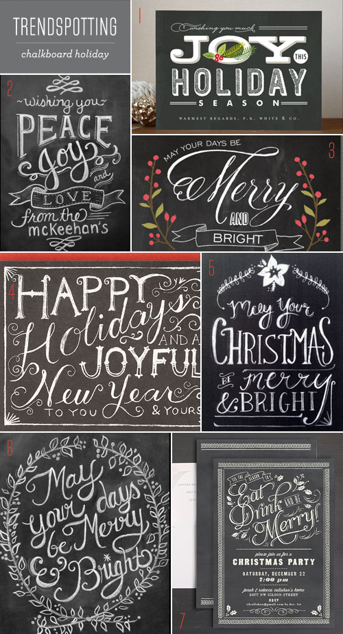 chalk christmas lettering