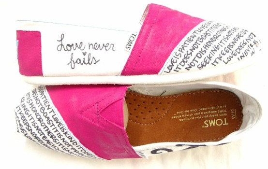 Words on TOMS!! I must try this!