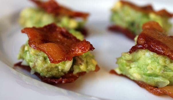 Guacamole-Topped Bacon Bites via The Ravenous Runner