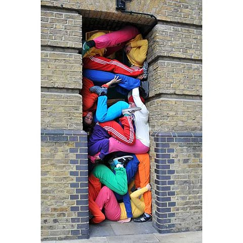 Performance art group Bodies in Urban Spaces set up human sculptures across Lond