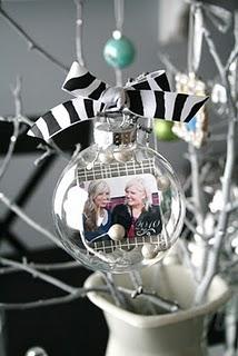 DIY picture ornaments.