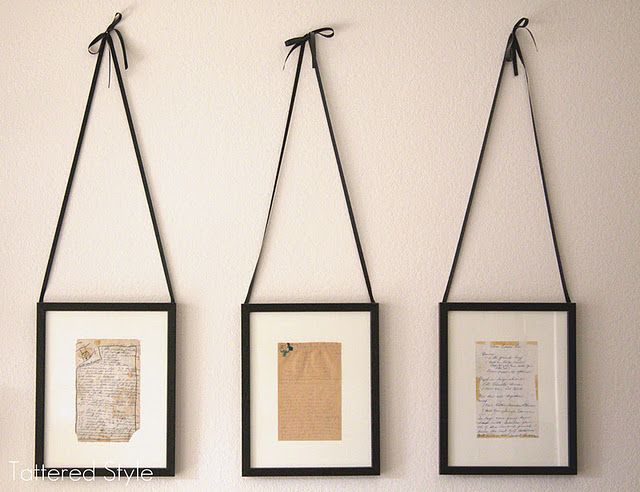 hand written recipe cards from your mom & gma & frame them in your kitch