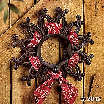 Horseshoe Barn Wreath – rodeo western