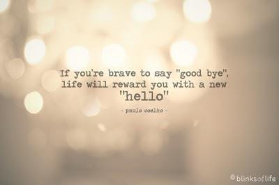 Good bye, I'm saying good bye.