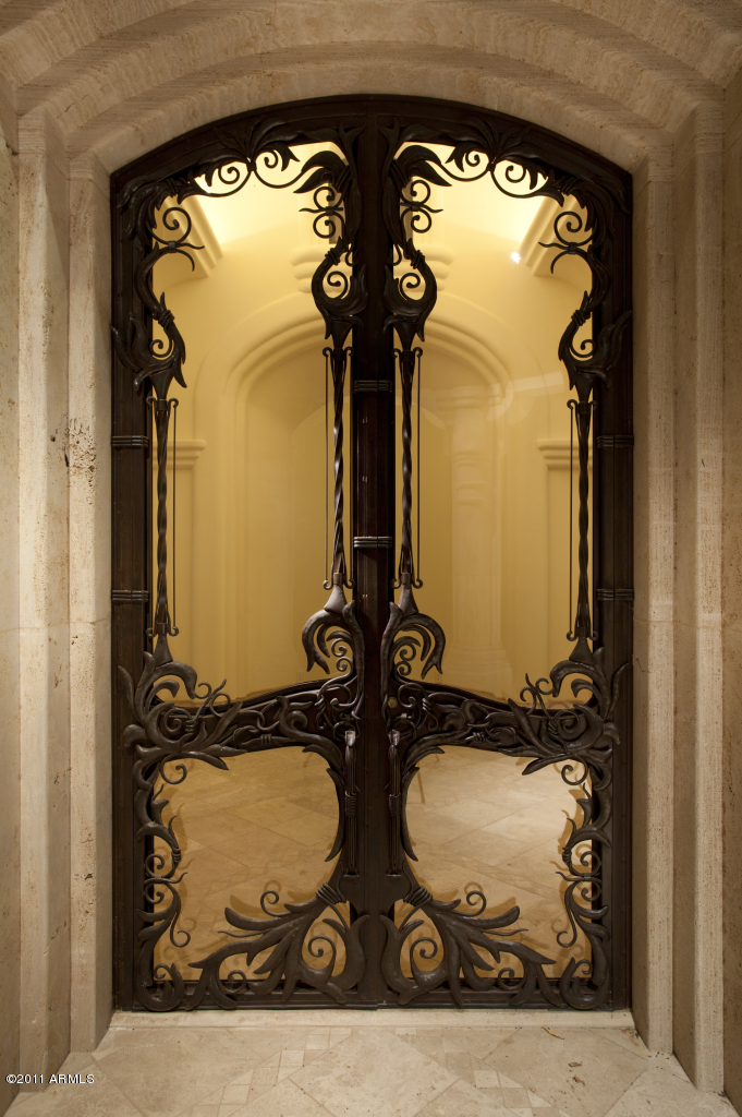 Iron doors. ART NOUVEAU