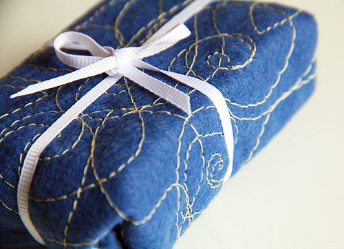 Stitched Gift Wrap