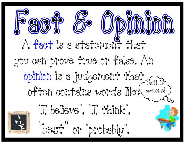 fact and opinion pinpoint