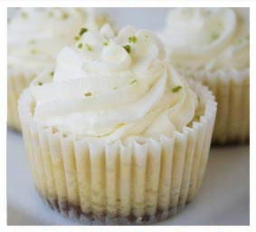 No-bake Key Lime Cream Cakes made with dōTERRA lime essential oil.