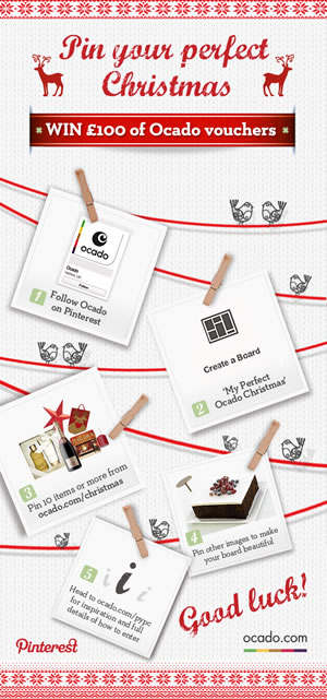 Pin your perfect Christmas with Ocado. Start your board at ocado.com/christmas.