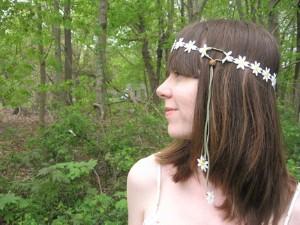 daisy crochet headband