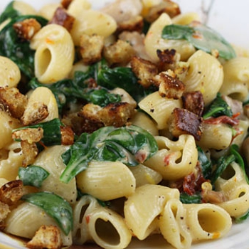 Chicken, Pasta, Sun-Dried Tomatoes & Spinach