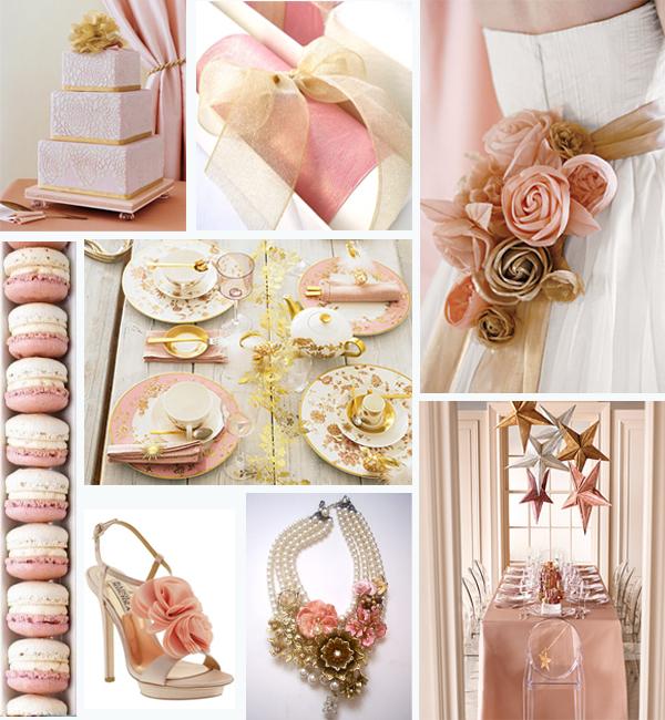blush pink and gold #wedding