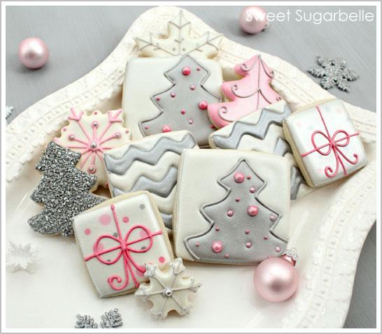 Modern Christmas Tree Cookies