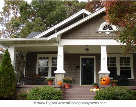 paint colors.  black front door, white trim, beige house.