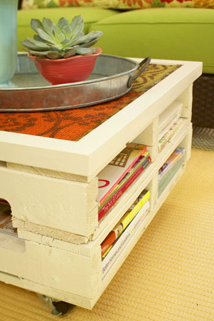 REFINED PALLET  This easy DIY project lets you put your feet up after you'