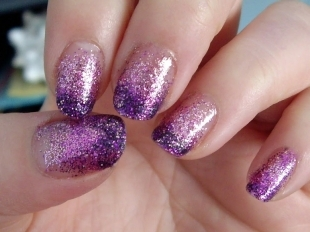 Purple Shimmery Nails