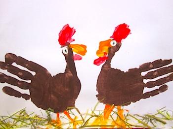 Handprint turkey craft