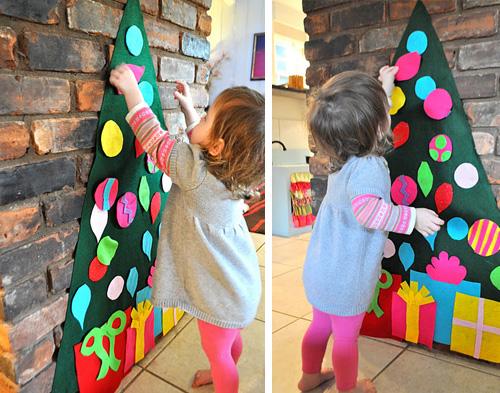 Christmas craft – felt tree
