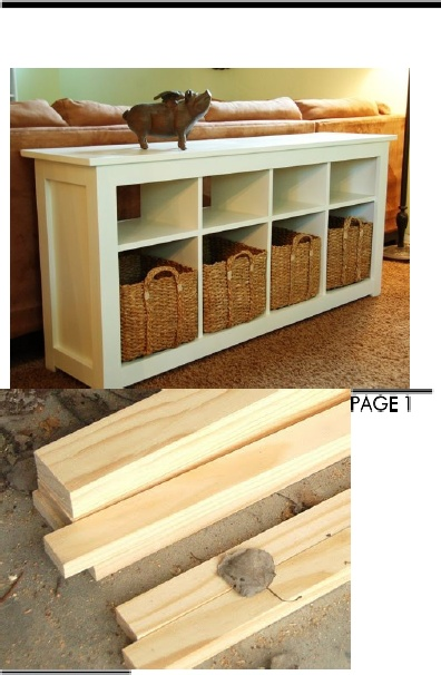 Excellent Step-By-Step Instructions w Pics on How To Build This Sofa Table